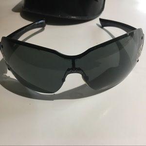 Gucci Strass 1825 Black Sunshield Sunglasses